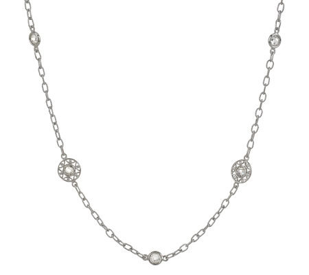 "Tacori IV Diamonique Epiphany CrescentCircles 18"" Necklace"