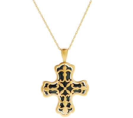 Linea by Louis Dell'Olio Fleur-de-Lis Cross Pendant