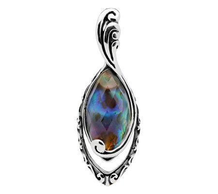 Carolyn Pollack Faceted Abalone Crystal Quartz Enhancer