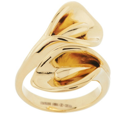 Stainless Steel Calla Lily Wrap Design Ring