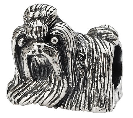 Prerogatives Sterling Glancing Sideways Shih Tzu Bead