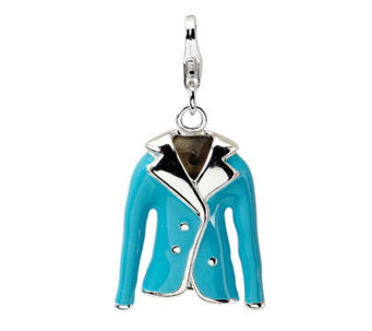 Amore La Vita Sterling Dimensional Ladies' BlueJacket Charm - J299759