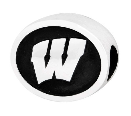 Sterling Silver University of Wisconsin Bead