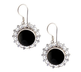 "Novica Artisan Crafted Sterling ""Sterling Halo""Earrings - J304059"