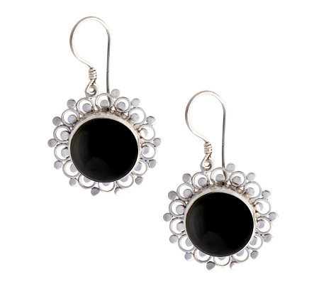"Novica Artisan Crafted Sterling ""Sterling Halo""Earrings"