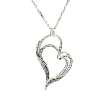 "Scott Kay Guardian Angel Sterling & Diamonique 18"" Adj. Necklace - J321059"
