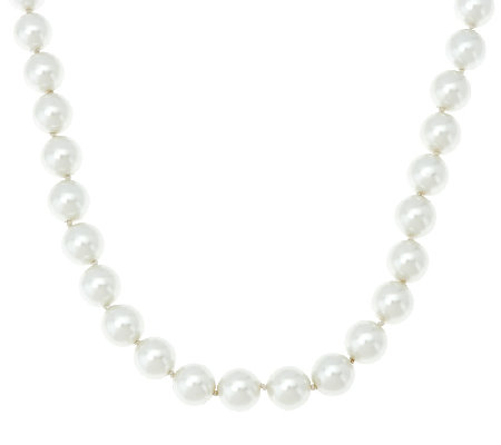 The Elizabeth Taylor Simulated South Sea Pearl Necklace