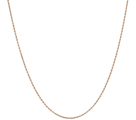 "EternaGold 24"" Adjustable Rope Necklace 14K Gold, 1.8g"