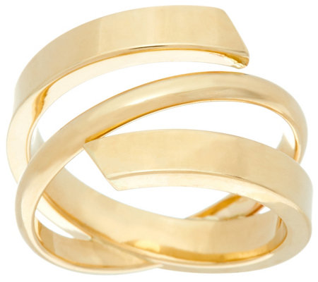 Dieci Polished Wrap Ring 10K Gold