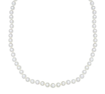 "Honora Classic 7mm White Cultured Pearl 18"" Necklace, 14K - J336659"