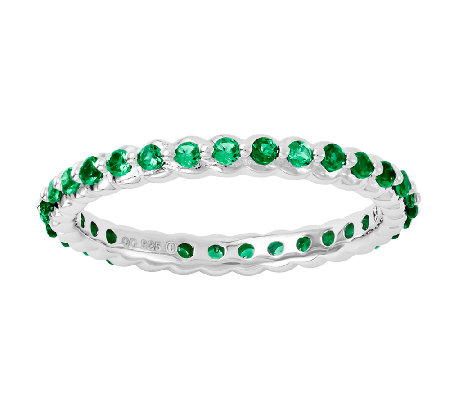 Simply Stacks Sterling Created Emerald EternityRing