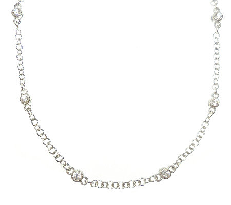 "Judith Ripka Sterling & Diamonique 36"" StationNecklace"