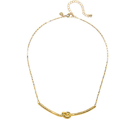 Capwell Goldtone Why Knot Necklace