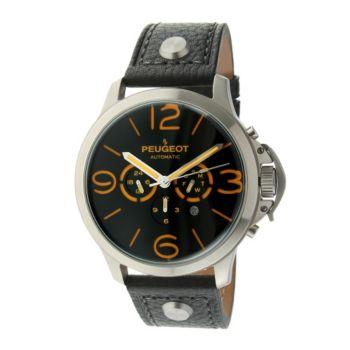 Peugeot Men's Automatic Leather Strap Watch