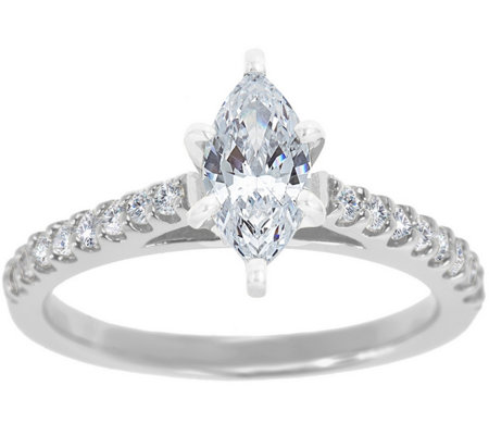 Diamond Pave Ring, 14K White Gold 3/4 cttw, byAffinity