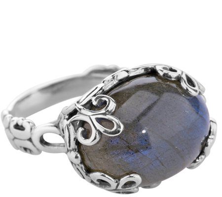 Carolyn Pollack Sterling Labradorite Bold EastWest Ring