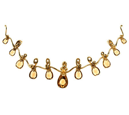 Carolyn Pollack 10.50 ct Champagne Citrine & Brass Enhancer