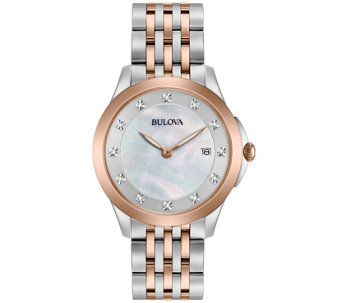Bulova Ladies' Diamond Accent Two-Tone Watch - J343959