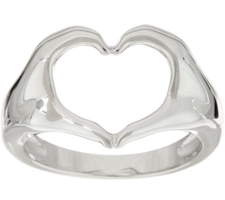 Heart-Full Hands Sterling Silver Signature Ring