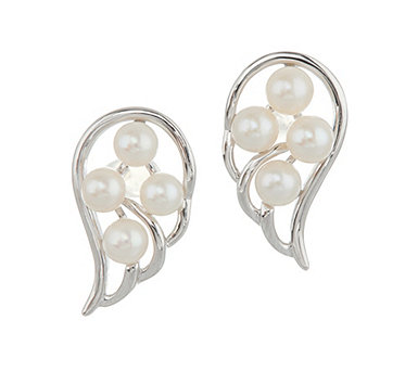 Honora Cultured Pearl Angel Wing Sterling Stud Earrings - J347559
