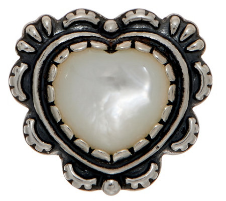 American West Mother of Pearl Sterling Silver Heart Enhancer