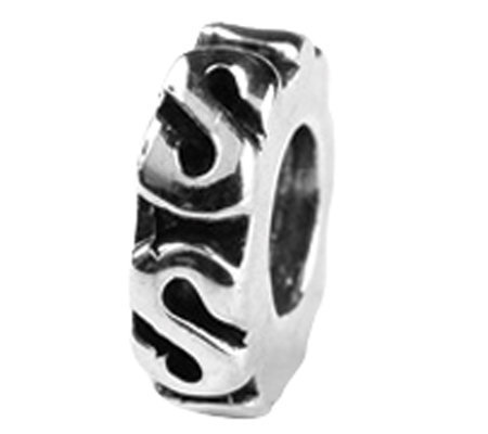 Prerogatives Sterling Swirl Spacer Bead