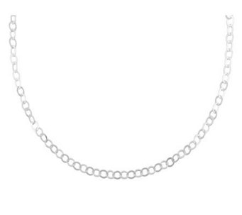 "UltraFine Silver 18"" Polished Oval Link Chain,4.8g - J110460"