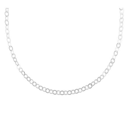 "UltraFine Silver 18"" Polished Oval Link Chain,4.8g"