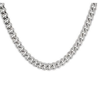 "Forza Solid 20"" Curb Necklace, Stainless Steel - J112960"
