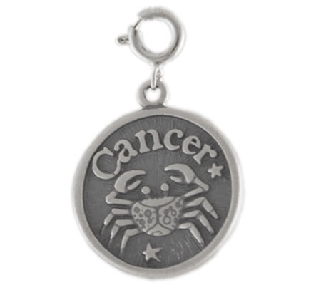 Sterling Zodiac Cancer Charm