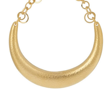 Luxe Rachel Zoe Hammered Horseshoe Necklace