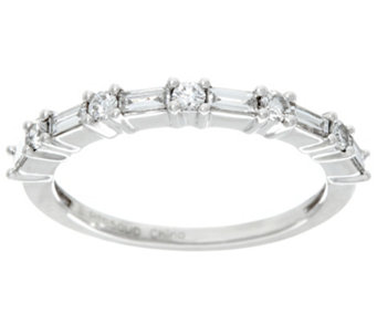 Baguette & Round Band Diamond Platinum, 1/3ct by Affinity - J283160