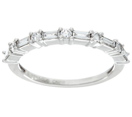 Baguette & Round Band Diamond Platinum, 1/3ct by Affinity