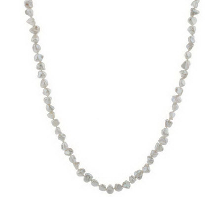 """As Is"" Honora Cultured Freshwater Pearl Keshi 64"" Necklace"