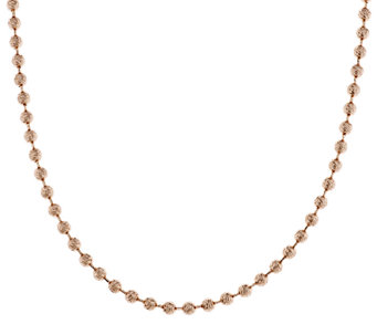 "Bronze 16"" Bold Diamond Cut Bead Chain Necklace by Bronzo Italia - J287960"