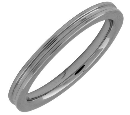 Simply Stacks Sterling Black Rhodium-Plated 2.25mm Groove Ring