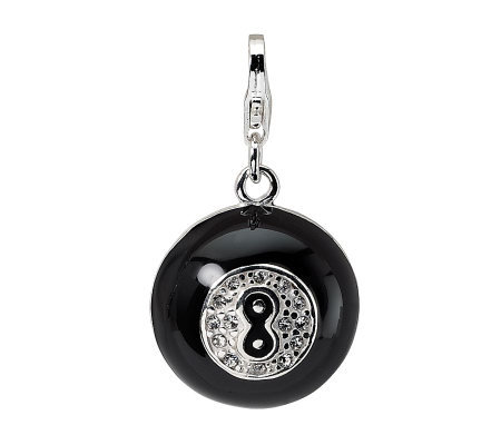 Amore La Vita Sterling Dimensional Magic 8 BallCharm