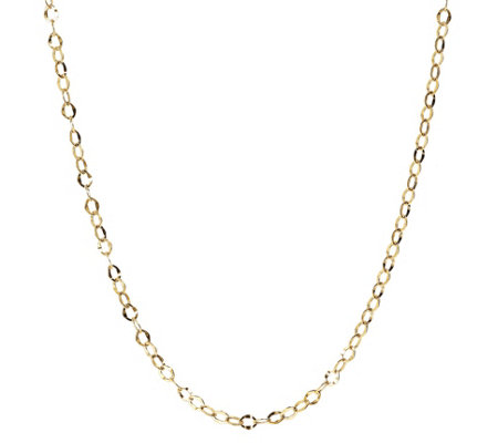 "30"" Hammered Oval Link Chain, 14K Gold 2.6g"