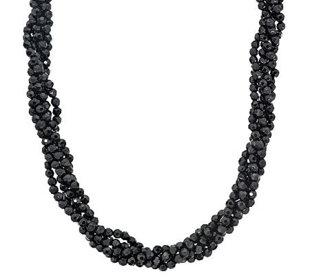 Barbara Bixby Sterling 5-Strand Faceted OnyxTorsade