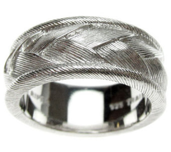 Judith Ripka Sterling Textured Braided Women'sRing - J310560