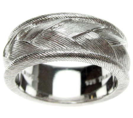 Judith Ripka Sterling Textured Braided Women'sRing