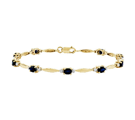 "7"" Polished Choice of Oval Gemstone Bracelet, 1 4K Gold"