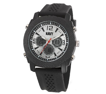 Wrist Armor Men's U.S. Navy C21 Silver & BlackWatch - J316360