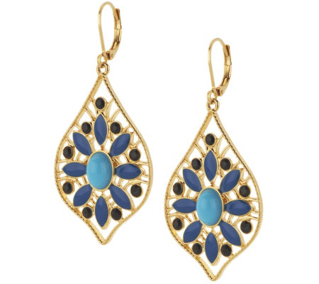 Joan Rivers Moroccan Flair Lever Back Earrings