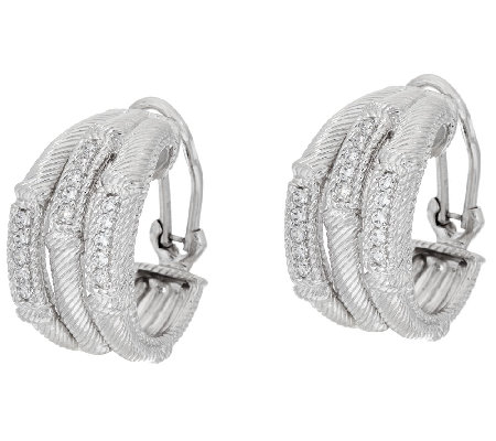 Judith Ripka Sterling Triple Hoop Earrings
