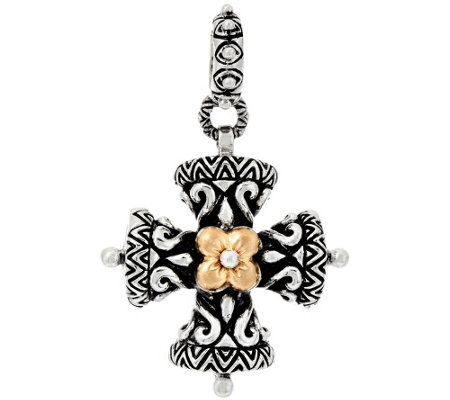 Barbara Bixby Sterling & 18K Yellow Gold Cross Charm