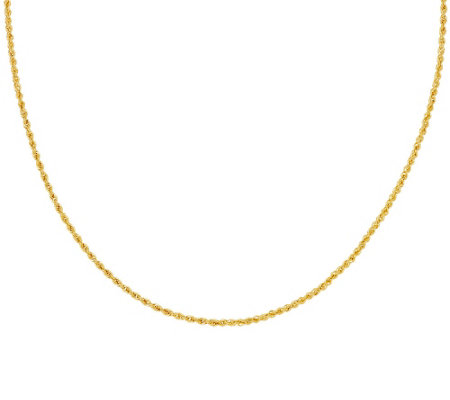 "Italian Gold 18"" Rope Chain Necklace 14K Gold, 2.3g"