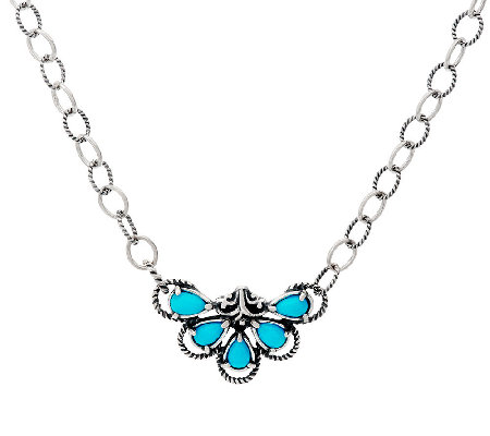 Carolyn Pollack Sterling Silver Sleeping Beauty Turquoise Necklace