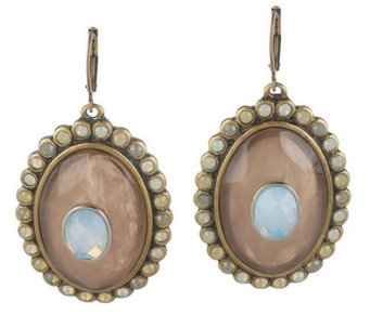 """As Is"" Faceted Oval Lever Back Earrings - J327760"