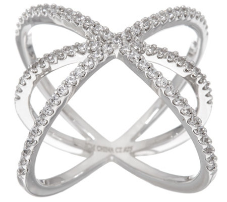 Diamonique Orbital Design Ring, Sterling